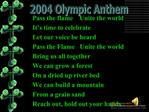 2004 Olympic Anthem Pass the flame Unite the world