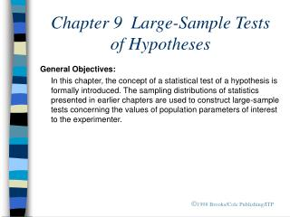Chapter 9  Large-Sample Tests  of Hypotheses