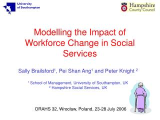 Modelling the Impact of Workforce Change in Social Services