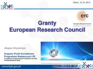 Granty  European Research Council