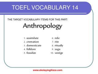 TOEFL VOCABULARY 14