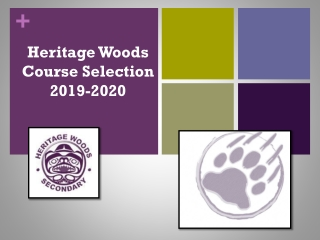 Heritage Woods Course Selection 2019-2020