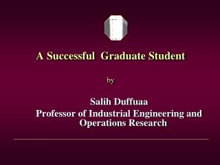 A Successful  Graduate Student by