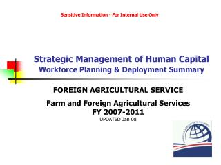 Strategic Management of Human Capital Workforce Planning & Deployment Summary