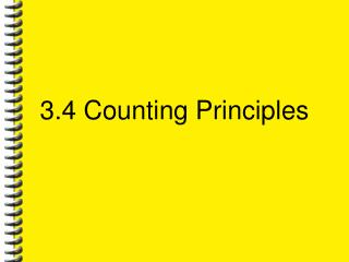 3.4 Counting Principles