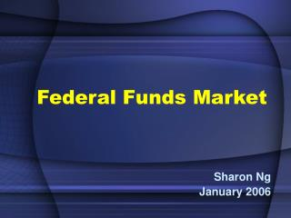 Federal Funds Market