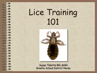 Lice Training 101