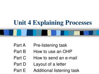 Unit 4 Explaining Processes
