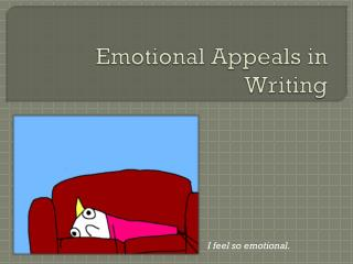 Emotional Appeals in Writing