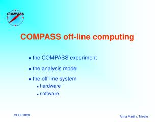 COMPASS  off-line  computing