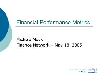 Financial Performance Metrics