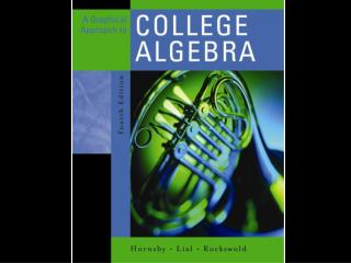 Chapter 8: Further Topics in Algebra