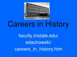 Careers in History
