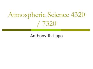 Atmospheric Science 4320 / 7320
