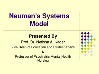 Neuman's Systems Model