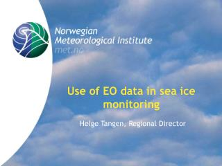 Use of EO data in sea ice monitoring