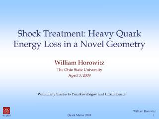 Shock Treatment: Heavy Quark Energy Loss in a Novel Geometry