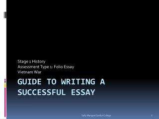 Guide to writing a successful essay
