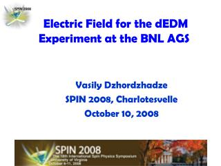 Electric Field for the dEDM Experiment at the BNL AGS