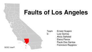 Faults of Los Angeles