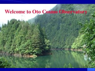 Welcome to Oto Cosmo Observatory