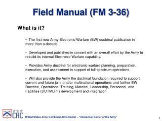 Field Manual (FM 3-36)