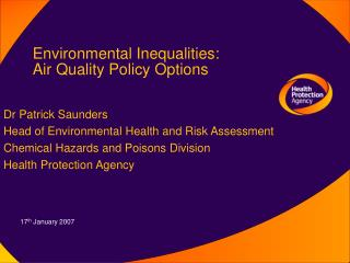 Environmental Inequalities: Air Quality Policy Options