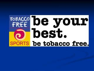 Tobacco Free Sports Presentation