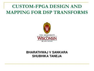 CUSTOM-FPGA DESIGN AND MAPPING FOR DSP TRANSFORMS