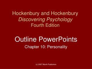 Hockenbury and Hockenbury Discovering Psychology Fourth Edition