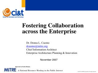 Fostering Collaboration across the Enterprise