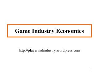Game Industry Economics