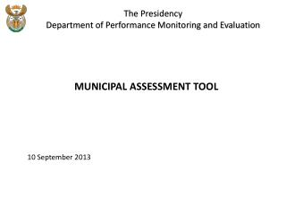 The Presidency  Department of Performance Monitoring and Evaluation