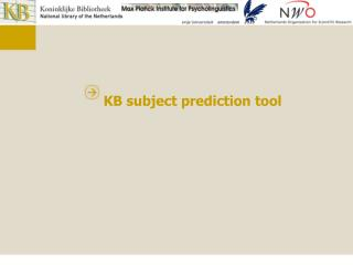 KB subject prediction tool