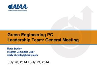 Green Engineering  PC  Leadership Team/ General Meeting