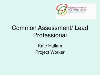 Common Assessment/ Lead Professional
