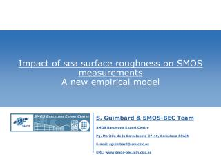 Impact of sea surface roughness on SMOS measurements A new empirical model