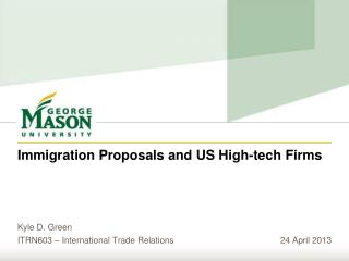 Immigration Proposals and US High-tech Firms