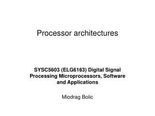 Processor architectures