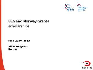 EEA and Norway Grants scholarships