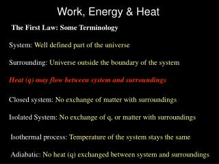Work, Energy & Heat