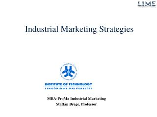 Industrial Marketing Strategies