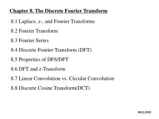 Chapter 8. The Discrete Fourier Transform