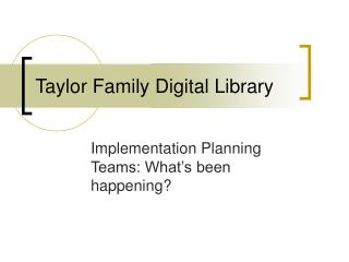 Taylor Family Digital Library