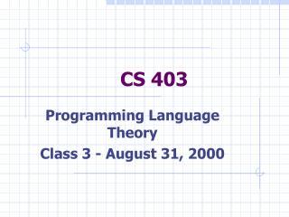 CS 403