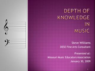 Depth of Knowledge  in  Music