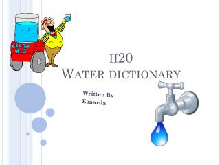 h20 Water dictionary