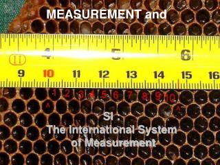 SI :  The International System  of Measurement
