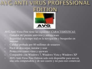 AVG Anti-Virus Professional  Edition