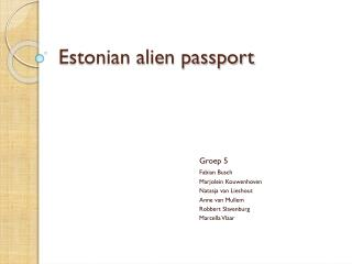 Estonian alien passport